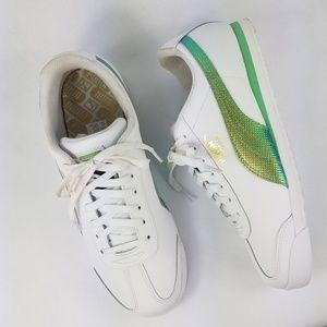 Puma Roma basic holo fashion sneakers men's sz9.5